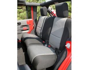 Housse de sièges arrière Néoprène Jeep JK 4 portes noir/gris