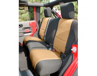 Housse de sièges arrière Néoprène Jeep JK 4 portes noir/beige