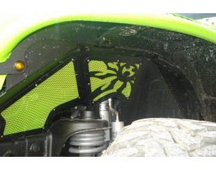 Intérieur d'aile avant Poison Spyder aluminium