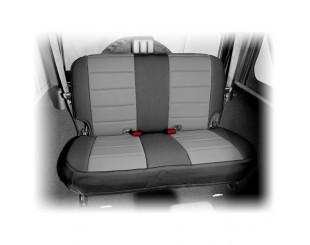 Housse de sièges arrière Néoprène Jeep JK 2 portes noir/gris