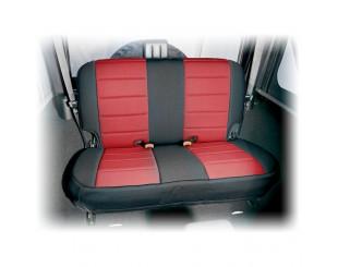 Housse de sièges arrière Néoprène Jeep JK 2 portes noir/rouge