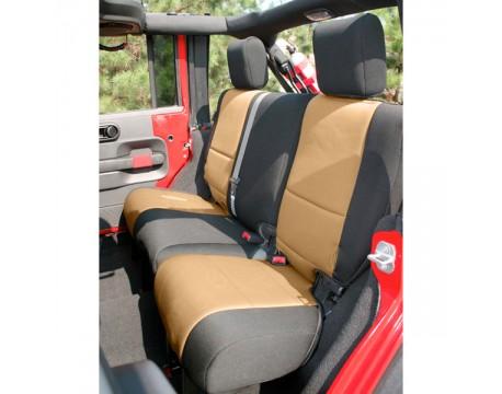 Housse de sièges arrière Néoprène Jeep JK 2 portes noir/beige