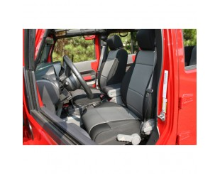 Housse de sièges avant Jeep JK 2007-2010 Noir/gris