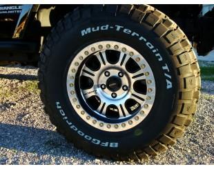 "Jantes Beadlock RACELINE Jeep JK Black alu poli 8.5 x 17"""