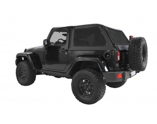 Ultimate fast back top Jeep JK 2 portes - Noir