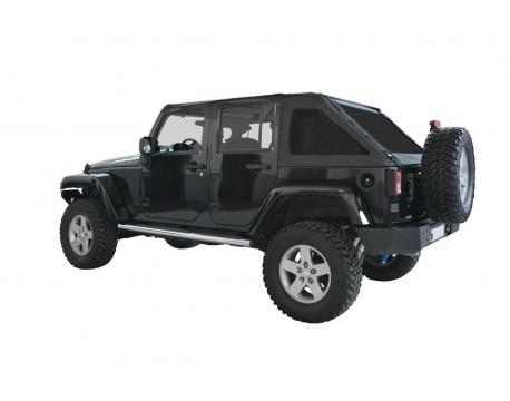 Ultimate fast back top Jeep JK 4 portes - Noir